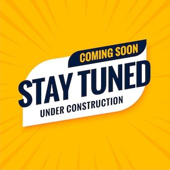 Binnenkort, blijf op de hoogte onder constructieontwerp