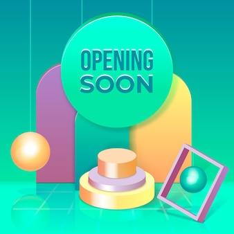 Binnenkort geopend met geometrische vormen