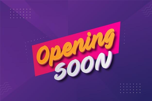 Binnenkort geopend ontwerpsjabloon