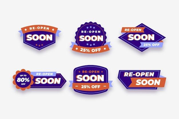 Binnenkort heropend badges collectie