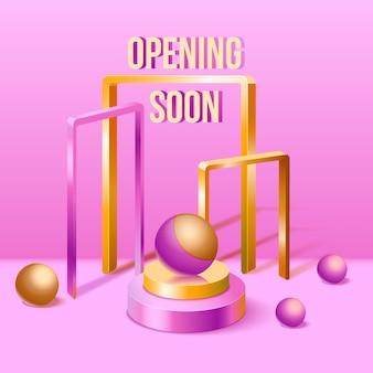 Binnenkort openende 3d achtergrond
