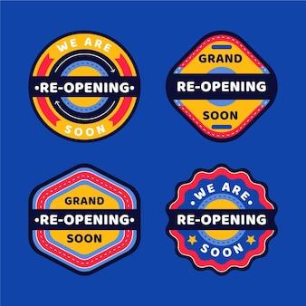 Binnenkort opnieuw geopend badges ingesteld