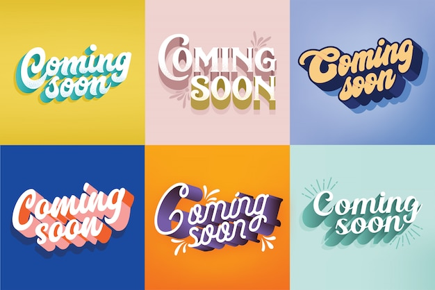 Binnenkort typografie