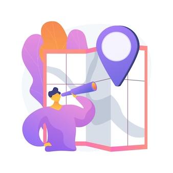 Binnenland die abstracte conceptenillustratie reizen