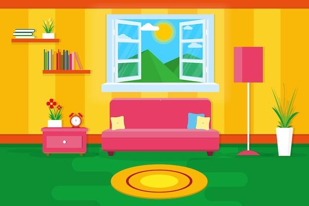 Binnenlandse woonkamer moderne gezellige en luxe stijl