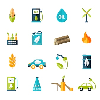 Bio brandstof pictogrammen instellen