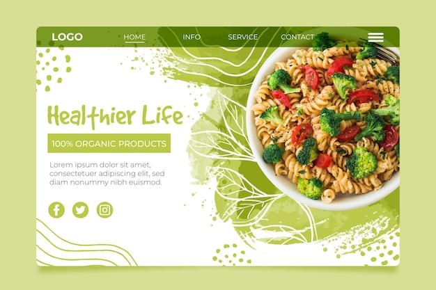 Bio en gezonde foodlanding-pagina