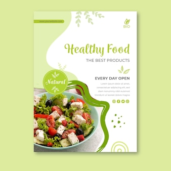 Bio en gezonde voeding poster