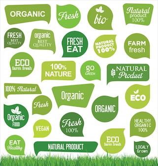 Bio en organische moderne labels
