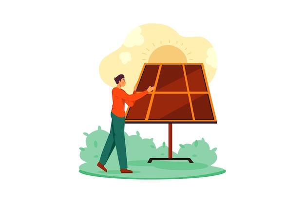 Bio energie illustratie concept