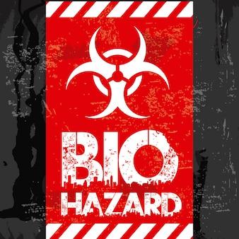 Bio-gevaar ontwerp over zwarte achtergrond vectorillustratie