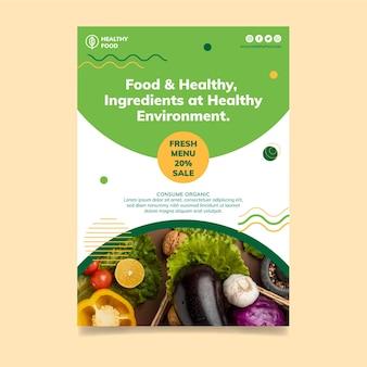 Bio & gezonde voeding flyer-sjabloon