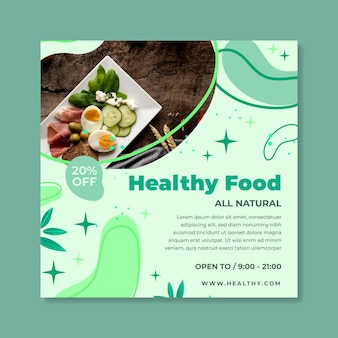 Bio & gezonde voeding flyer