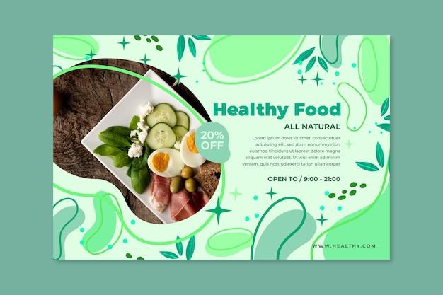 Bio & gezonde voedselbanner
