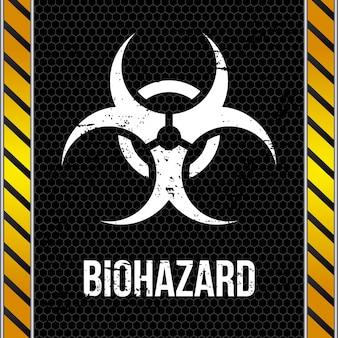 Biohazard ontwerp over muur achtergrond vectorillustratie Premium Vector