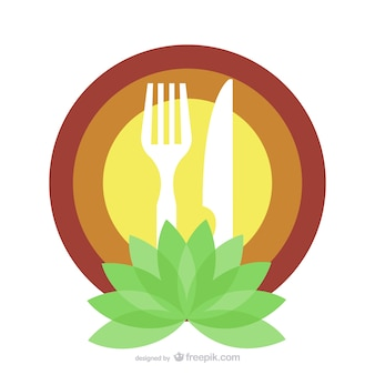 Biologisch food restaurant logo template