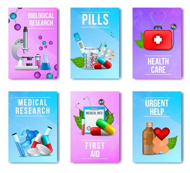 Biologisch, medisch onderzoek, pillen, ehbo-set