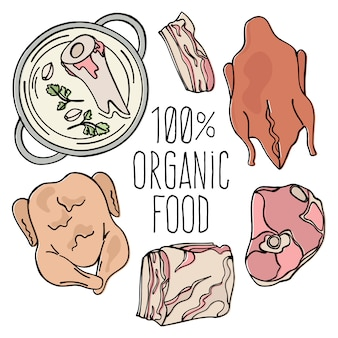 Biologisch vlees carnivore natuurvoeding