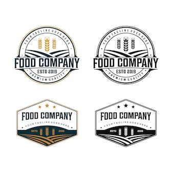 Biologisch voedsel bedrijfslogo