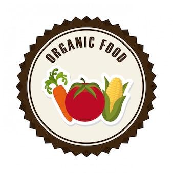Biologisch voedsel grafisch ontwerp