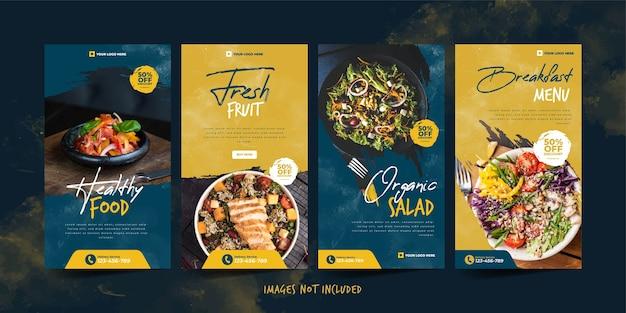 Biologisch voedsel instagram-sjabloon voor advertentiesjabloon voor sociale media