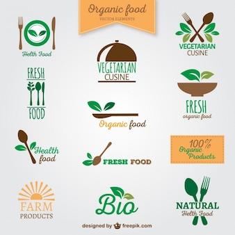 Biologisch voedsel logos