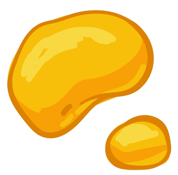 Biologische en natuurlijke zoetstof voor bakken en eten, geïsoleerde druppels honing. gouden nectar of siroop. zelfgemaakte bioproduct, bijenteelt en landbouwbijenbedrijf. vector in vlakke stijl, illustratie