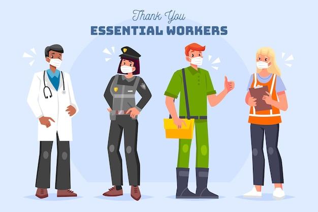 Biologische flat bedankt essentiële werknemers