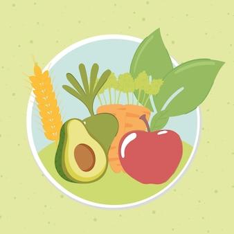 Biologische groenten en fruit