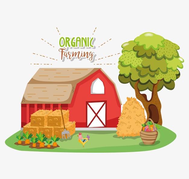 Biologische landbouw cartoons