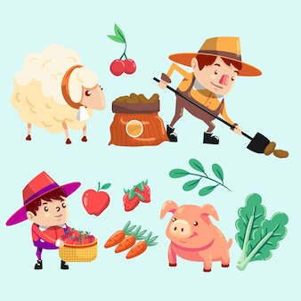 Biologische landbouw concept concept