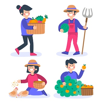 Biologische landbouw concept pack