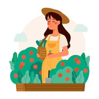 Biologische landbouw concept