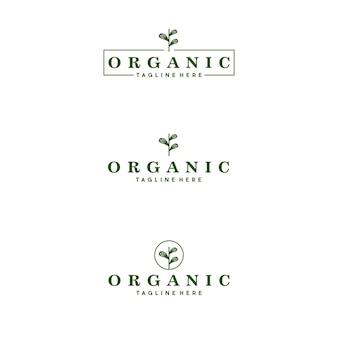 Biologische logo luxe