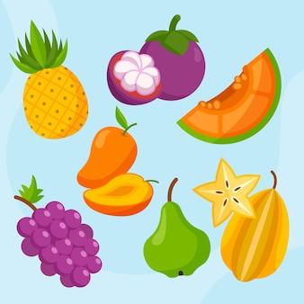 Biologische platfruitcollectie