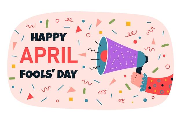 Biologische platte april dwazen dag illustratie