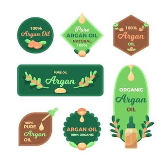 Biologische platte arganolie-badgecollectie