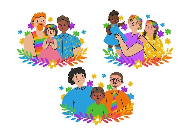 Biologische platte familiecollectie