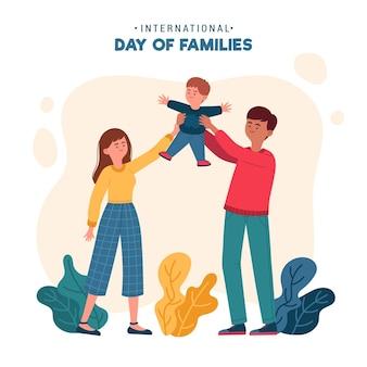 Biologische platte internationale dag van gezinnen illustratie