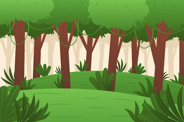 Biologische platte jungle achtergrond