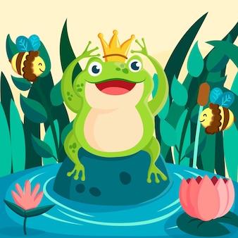 Biologische platte kikker illustratie