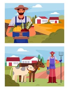 Biologische platte landbouw beroep