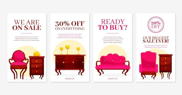 Biologische platte meubels verkoop instagram verhaalcollectie
