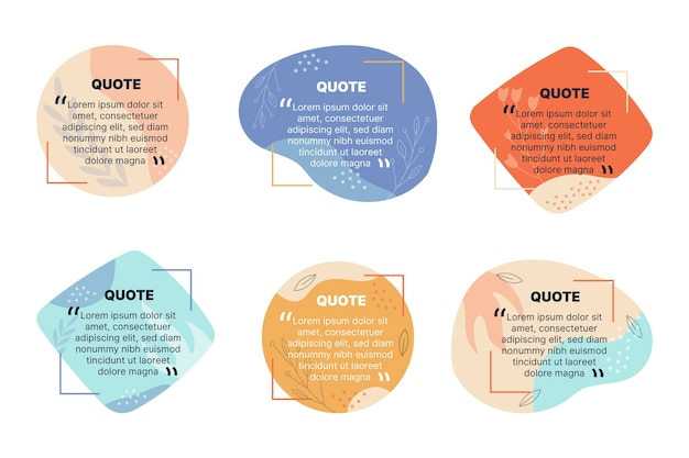 Biologische platte quote box frame-collectie