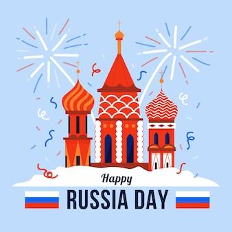Biologische platte rusland dag illustratie
