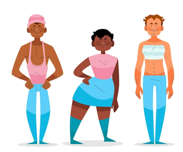 Biologische platte transgender-mensencollectie