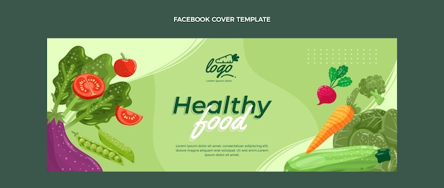 Biologische platte voeding facebook cover