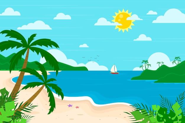 Biologische platte zomer achtergrond