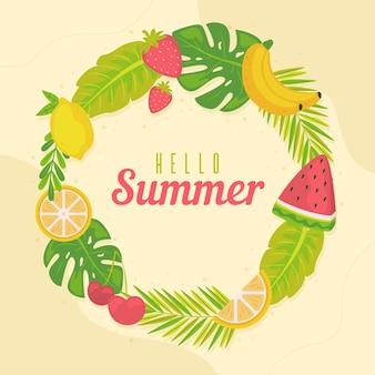 Biologische platte zomer illustratie