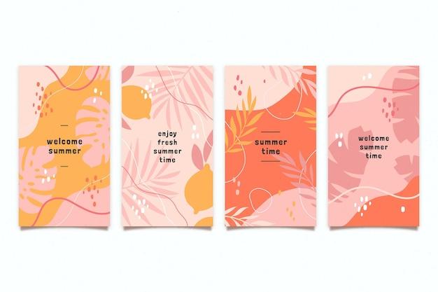 Biologische platte zomerkaartencollectie